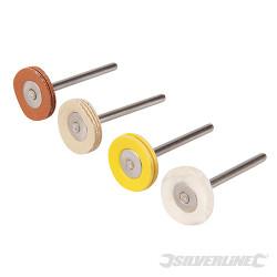 Ensemble de roues de polissage pour outil rotatif 4 pcs 20 mm de diamètre