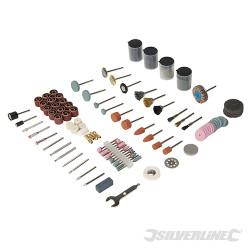 Ensemble 216 accessoires pour outil rotatif Tige de 3,17 mm