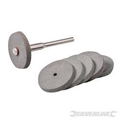 Ensemble de disques à polir en caoutchouc pour outil rotatif 7 pcs 22 mm de diamètre