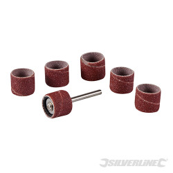 Ensemble de ponçage sur tambour pour outil rotatif 7 pcs 12,70 mm (1/2