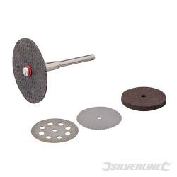 Ensemble de disques de coupe et meules pour outil rotatif 5 pcs 22, 32 mm de diamètre
