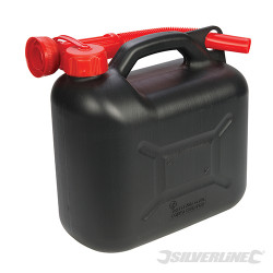 Bidon à carburant plastique 5 L Noir