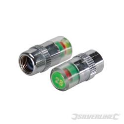 Jeu de 2 valves manométriques pour pneus 1,93 bar