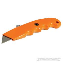 Cutter ergonomique de  couleur vive à lame rétractable 140 mm