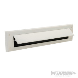 Brosse de calfeutrage pour fente de porte à clapet 338 x 78 mm Blanc