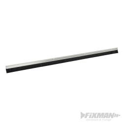 Bas de porte de garage, poils 25 mm 2 x 1 067 mm - aluminium