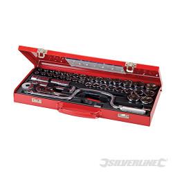 Coffret de 42 clés/douilles 1/2 pouce métriques et AF 42 pcs