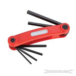 Monture de 7 clés hex métriques 2,5-10 mm