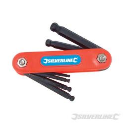 Monture de 7 clés mâles métriques à tête sphérique 2,5 - 10 mm