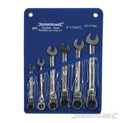 Trousse de 6 clés mixtes à cliquet à tête inclinable 8 - 17 mm