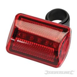 Eclairage de vélo 5 LED Rouge