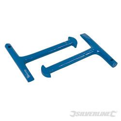 2 clés pour plaque d'égout 125 mm
