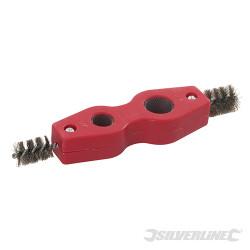 Brosse à ébavurer et nettoyer les tuyaux 15 et 22 mm