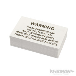 Panneau d'avertissement de bande anti-effraction à pics Panneau d'avertissement (Anglais)