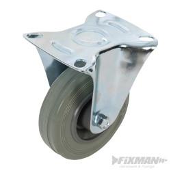 Roulette fixe en caoutchouc 100 mm 70 kg