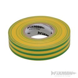 Ruban isolant 19 mm x 33 m, Vert/jaune