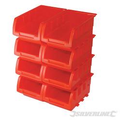 Jeu de 8 boîtes empilables 165 x 105 x 75 mm
