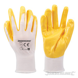 Gants nylon enduction nitrile Large