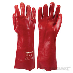 Gants PVC rouges Large