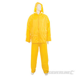 Tenue imperméable jaune 2 pcs XL 76 - 134 cm
