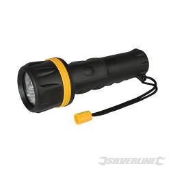 Torche caoutchoutée à LED 2 x D